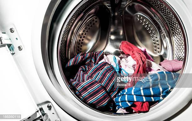 Lavar roupa interior de uma máquina de lavar roupa Tambor