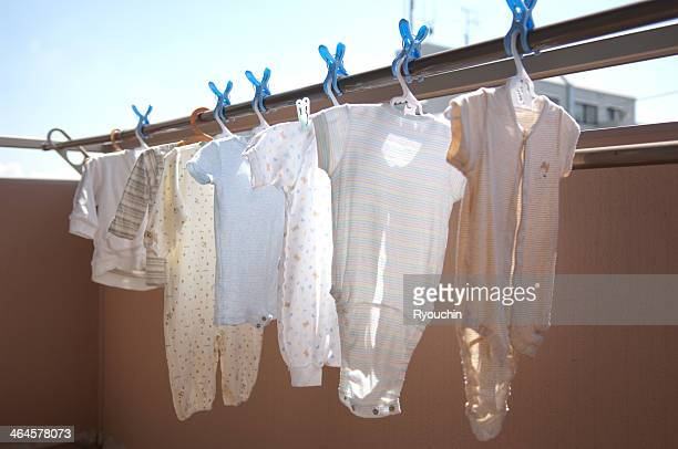 Laundry of baby clothes