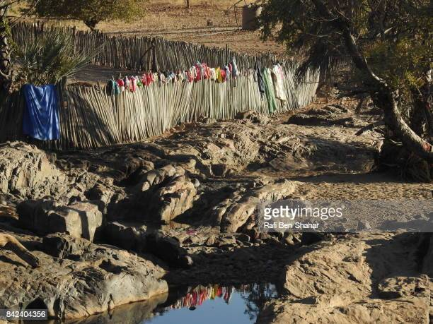 Laundry outdoors in a camping site