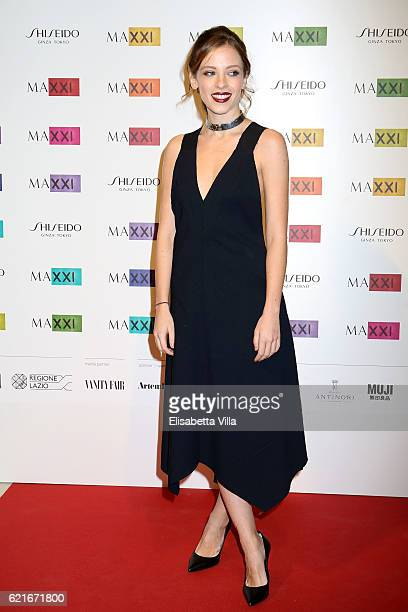Laura Adriani attends a photocall for the MAXXI Acquisition Gala Dinner 2016 at Maxxi Museum on November 7 2016 in Rome Italy