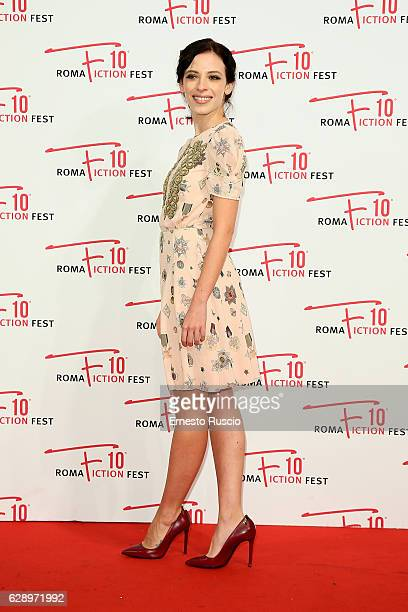 Laura Adriani attends the 'Il confine' red carpet during the Roma Fiction Fest 2016 at The Space Moderno on December 10 2016 in Rome Italy