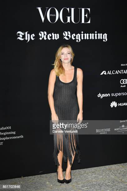 Laura Adriani attends theVogue Italia 'The New Beginning' Party during Milan Fashion Week Spring/Summer 2018 on September 22 2017 in Milan Italy