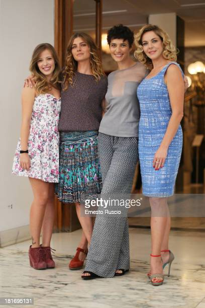 Laura Adriani Vittoria Puccini Anna Foglietta and Claudia Gerini attend the 'Tutta Colpa di Freud' photocall at Teatro Dell Opera on September 23...