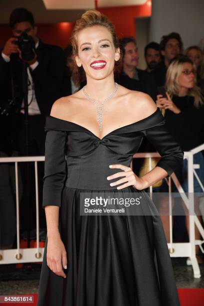 Laura Adriani walks the red carpet ahead of the 'Emma ' screening during the 74th Venice Film Festival at Sala Grande on September 7 2017 in Venice...