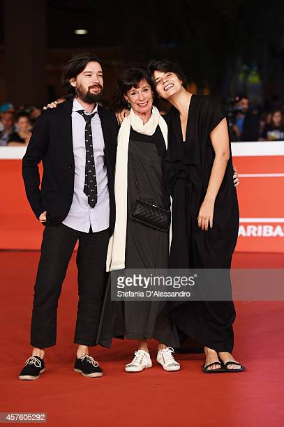 Laura Amelia Guzman Conde Geraldine Chaplin and Israel Cardenas attend 'Dolares De Arena' Red Carpet during the 9th Rome Film Festival at Auditorium...