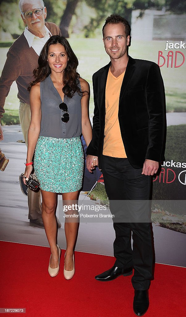 Laura Andon and Jayson Brunsdon attend the Australian premiere of 'Jackass Presents: Bad Grandpa' at Event Cinemas, George Street on November 7, 2013 in Sydney, Australia.