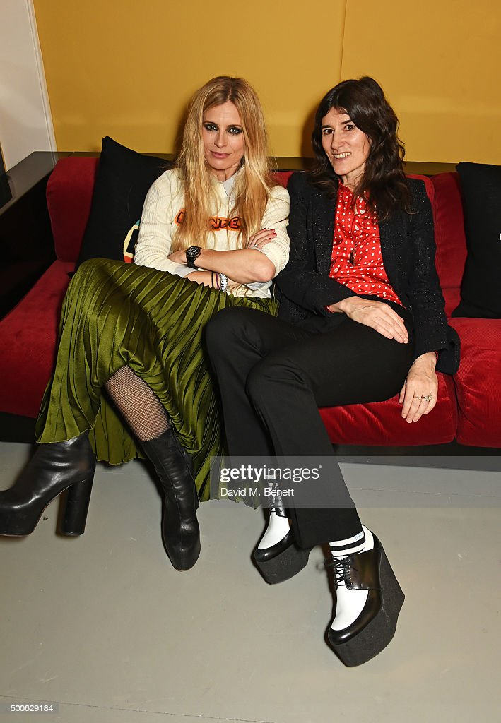 Laura Bailey (L) and Bella Freud attend the Bella Freud store launch in Marylebone on December 9, 2015 in London, England.