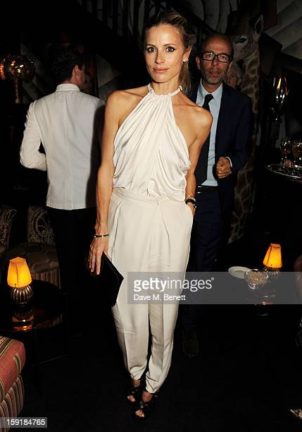 Laura Bailey and Eric Fellner attend a private dinner hosted by Tom Ford to celebrate his runway show during London Collections MEN AW13 at Loulou's...