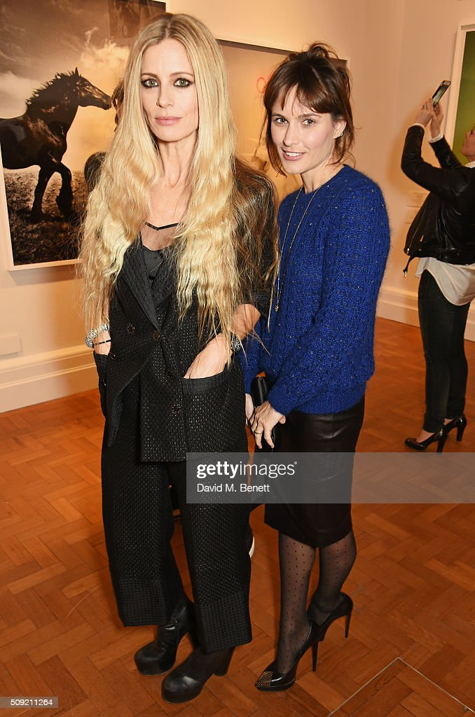 <a gi-track='captionPersonalityLinkClicked' href=/galleries/search?phrase=Laura+Bailey&family=editorial&specificpeople=202040 ng-click='$event.stopPropagation()'>Laura Bailey</a> (L) and Sheherazade Goldsmith attend a private view of 'Vogue 100: A Century of Style' hosted by Alexandra Shulman and Leon Max at the National Portrait Gallery on February 9, 2016 in London, England.