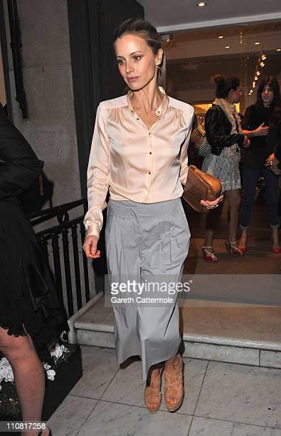 Laura Bailey at Diane Von Furstenberg on March 24 2011 in London England
