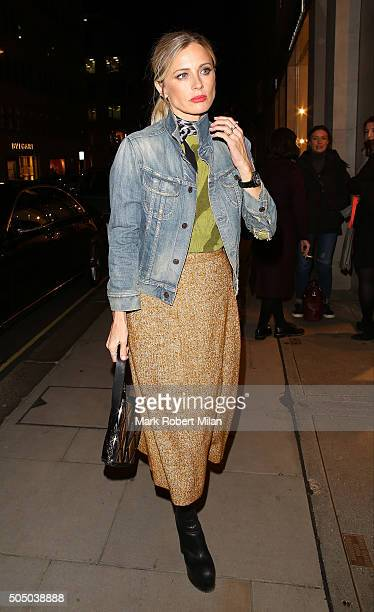Laura Bailey at the Louis Vuitton for UNICEF party on January 14 2016 in London England