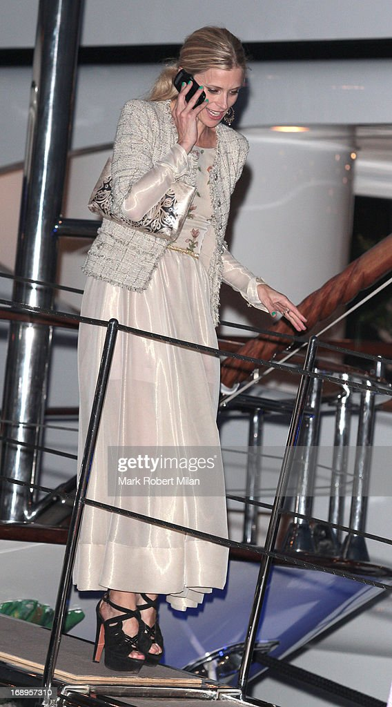 Laura Bailey attending the Johnnie Walker yacht party at The 66th Annual Cannes Film Festival on May 17, 2013 in Cannes, France.