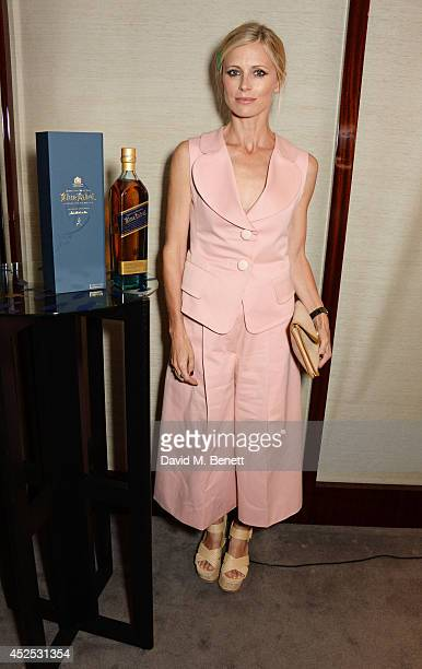 Laura Bailey attends a VIP screening of 'Gentleman's Wager' hosted by Johnnie Walker Blue Label at The Bulgari Hotel on July 22 2014 in London England