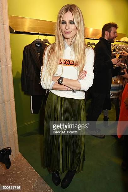 Laura Bailey attends the Bella Freud store launch in Marylebone on December 9 2015 in London England