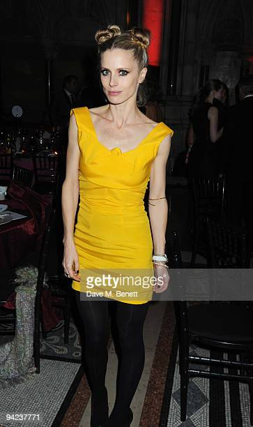 Laura Bailey attends the British Fashion Awards at the Royal Courts of Justice Strand on December 9 2009 in London England