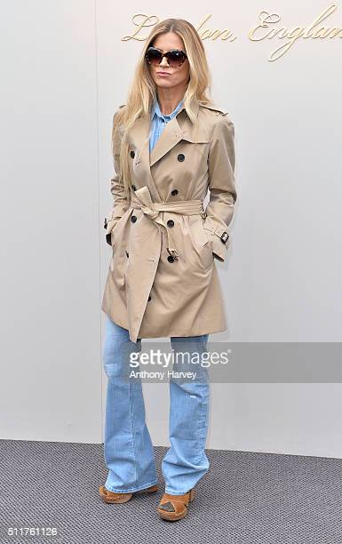 Laura Bailey attends the Burberry show during London Fashion Week Autumn/Winter 2016/17 at Kensington Gardens on February 22 2016 in London England
