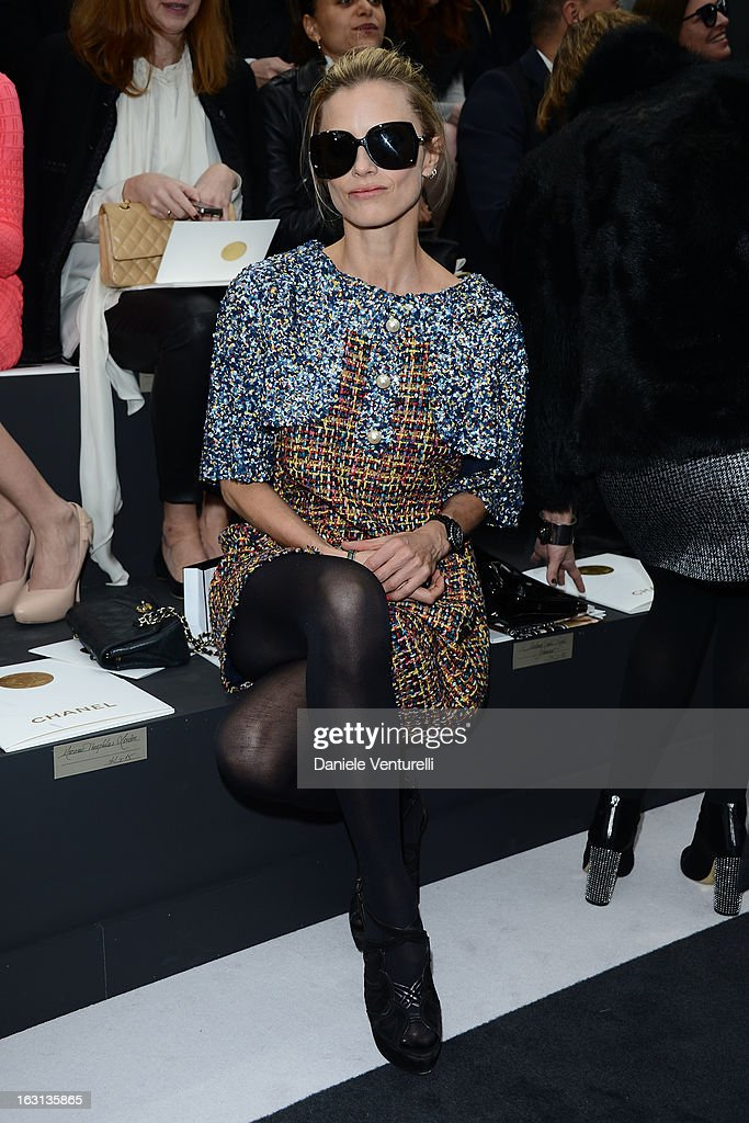 Laura Bailey attends the Chanel Fall/Winter 2013 Ready-to-Wear show as part of Paris Fashion Week at Grand Palais on March 5, 2013 in Paris, France.
