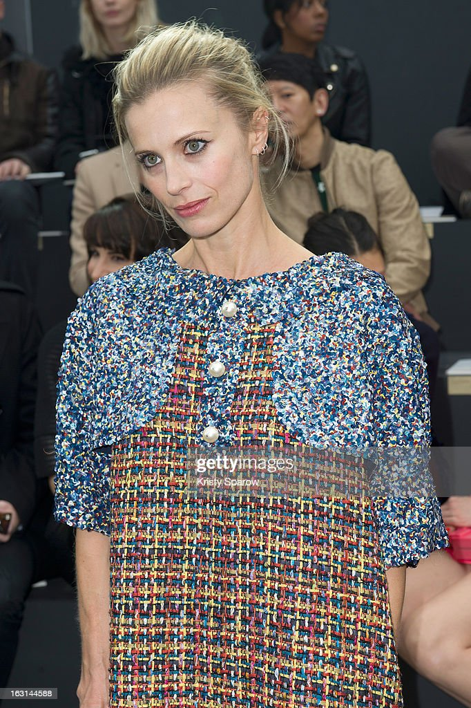 Laura Bailey attends the Chanel Fall/Winter 2013/14 Ready-to-Wear show as part of Paris Fashion Week at Grand Palais on March 5, 2013 in Paris, France.