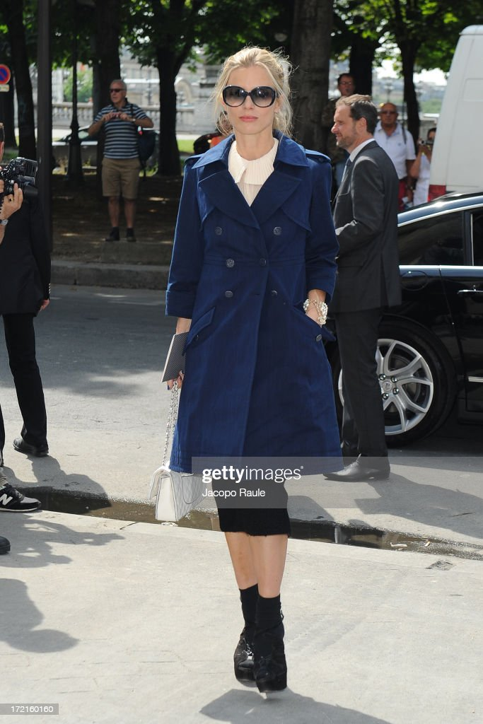 Laura Bailey attends the Chanel show as part of Paris Fashion Week Haute-Couture Fall/Winter 2013-2014 at Grand Palais on July 2, 2013 in Paris, France.
