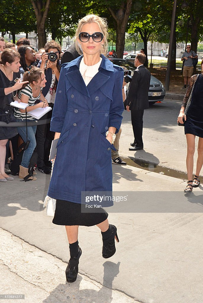 Laura Bailey attends the Chanel show as part of Paris Fashion Week Haute-Couture Fall/Winter 2013-2014 at the Grand Palais on July 2, 2013 in Paris, France.