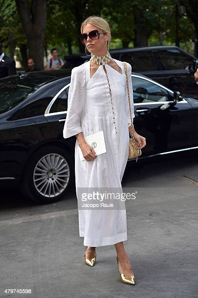 Laura Bailey attends the Chanel show as part of Paris Fashion Week Haute Couture Fall/Winter 15/16 Day Three on July 7 2015 in Paris France