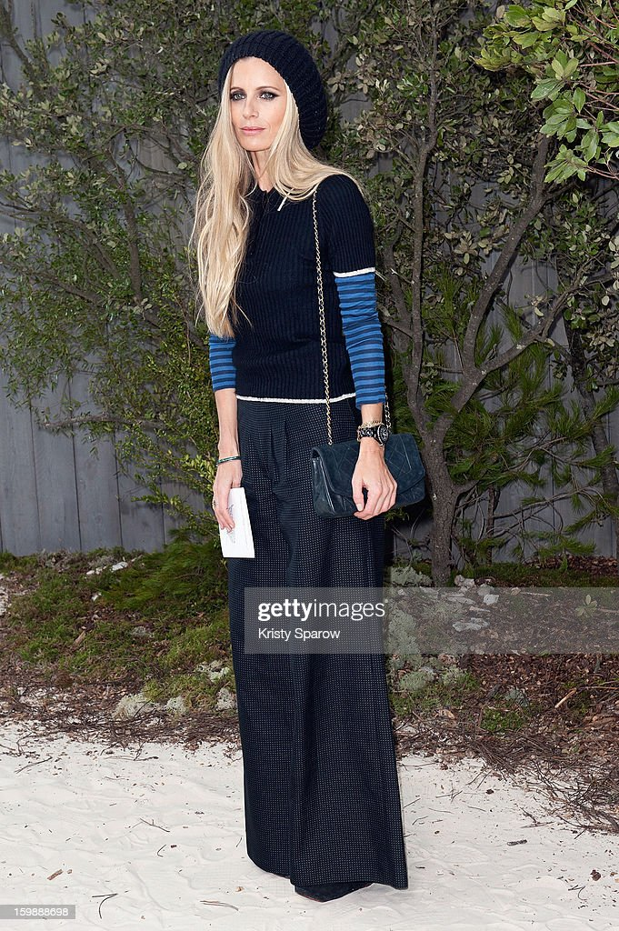 Laura Bailey attends the Chanel Spring/Summer 2013 Haute-Couture show as part of Paris Fashion Week at Grand Palais on January 22, 2013 in Paris, France.