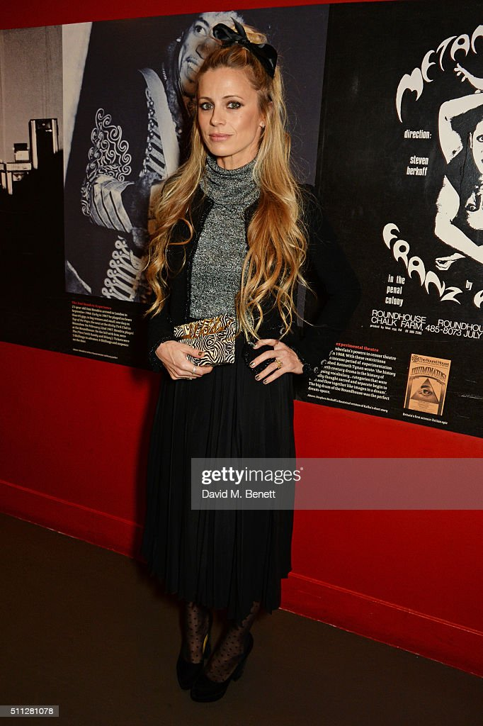 Laura Bailey attends the Charlotte Olympia Fall 16 catwalk show at The Roundhouse on February 19, 2016 in London, England.