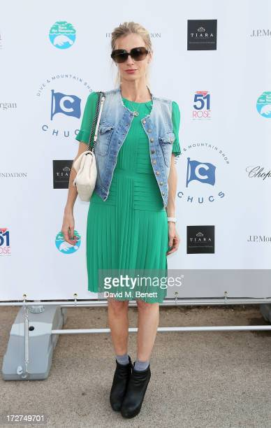 Laura Bailey attends the Chucs Swimathon hosted by Charles Finch at the Serpentine Hyde Park on July 4 2013 in London England