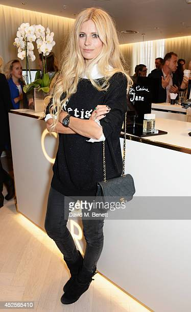 Laura Bailey attends the launch of the Bella Freud Parfum frangrance at Harvey Nichols on July 23 2014 in London England