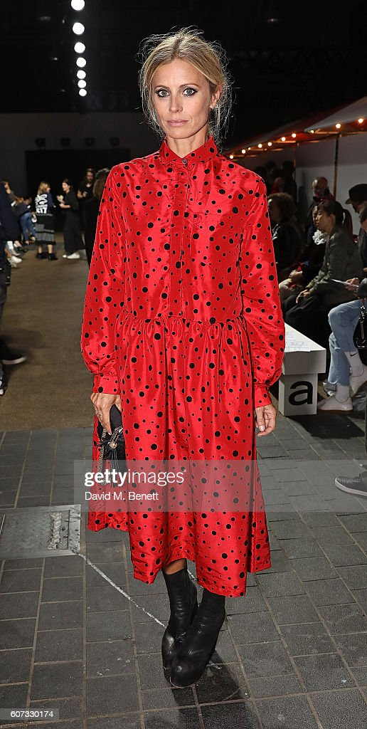 Laura Bailey attends the Molly Goddard runway show during London Fashion Week Spring/Summer collections 2017 on September 17, 2016 in London, United Kingdom.