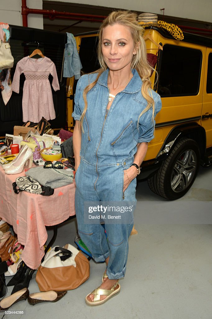 Laura Bailey attends the #SheInspiresMe Car Boot Sale presented by The Store and Brewer Street Car Park in aid of Women for Women International at Brewer Street Car Park on April 23, 2016 in London, England.