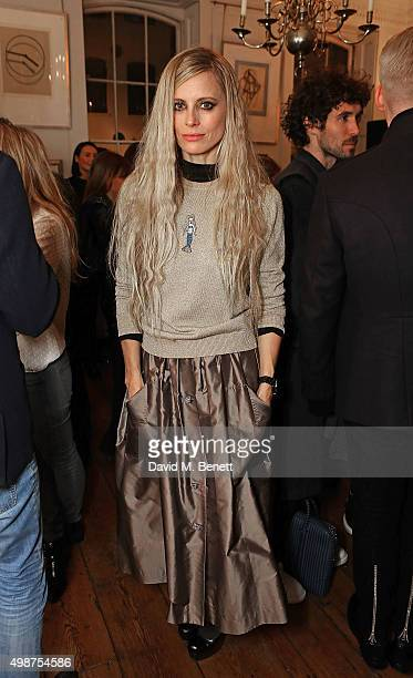 Laura Bailey attends the Shrimps cocktail party at 68 Dean Street on November 25 2015 in London England