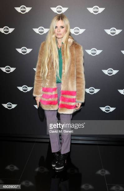 Laura Bailey attends the World Premiere of the new MINI at the Old Sorting Office on November 18 2013 in London England