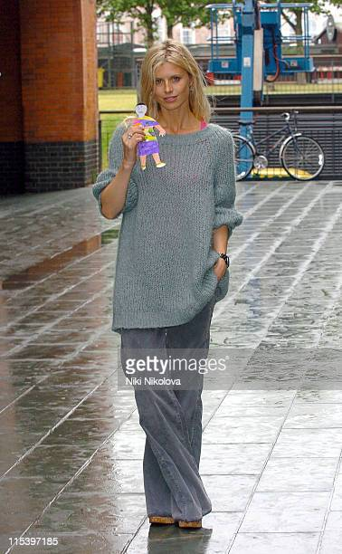 Laura Bailey during Rachel Stevens Opens 'Send My Friend To School' Exhibition at Oxo Tower in London Great Britain
