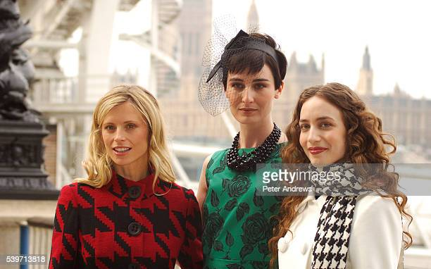 Laura Bailey Erin O'Connor and Lizzy Jagger promotes the launch of Marks Spencer's new televison advertising campaign on London's South Bank