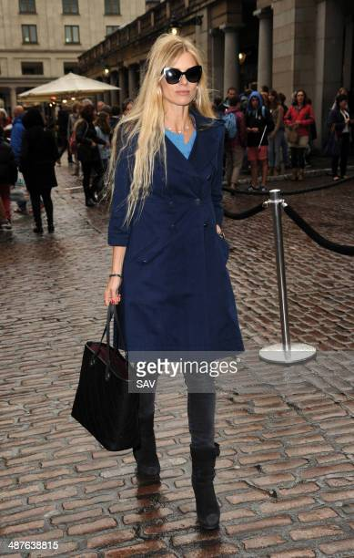 Laura Bailey pictured in Covent Garden on May 1 2014 in London England