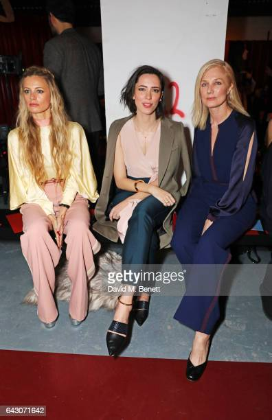 Laura Bailey Rebecca Hall and Joely Richardson attend the Roksanda show during the London Fashion Week February 2017 collections on February 20 2017...