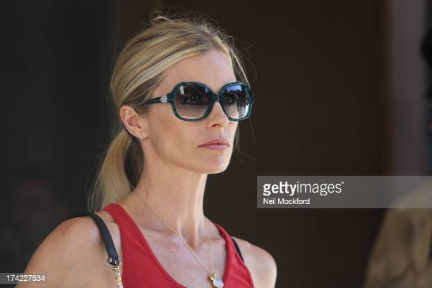 Laura Bailey seen at the Bulgari Hotel on July 19 2013 in London England