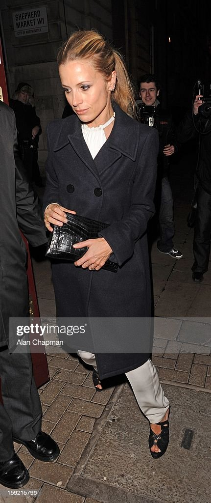 Laura Bailey sighting at Loulou's on January 9, 2013 in London, England.