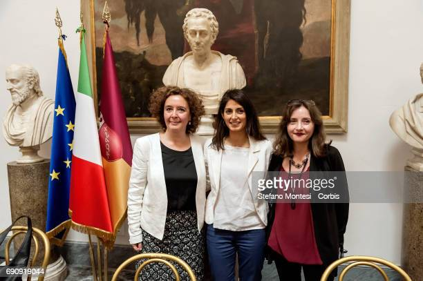 Laura Baldassarre councilor to the Person School and Community solidarity Virginia Raggi mayor of Rome Maria Agnese CatiniPresident of the Chapter...