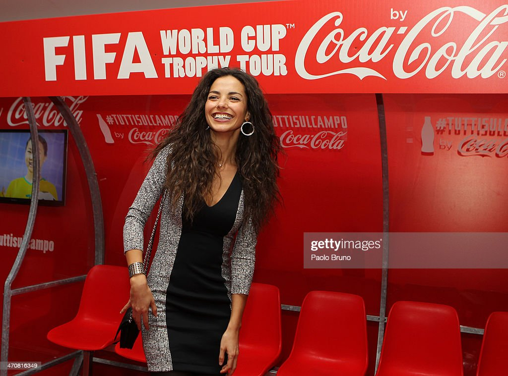 Laura Barriales attends a party during day two of the FIFA World Cup Trophy Tour on February 20, 2014 in Rome, Italy.