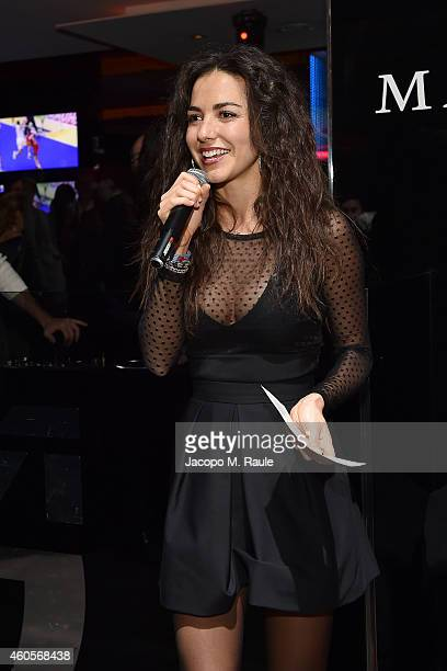 Laura Barriales attends Infront Christmas Party on December 16 2014 in Milan Italy