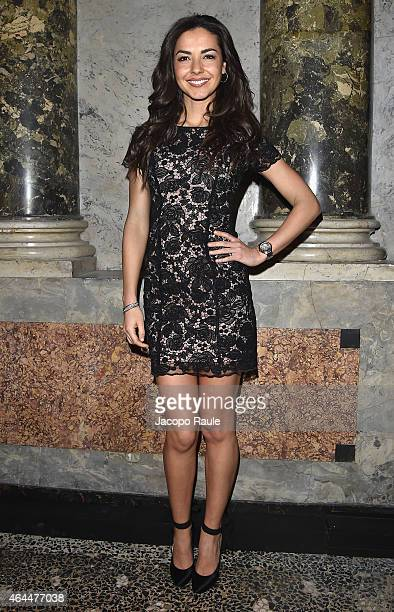 Laura Barriales attends the Blugirl show during the Milan Fashion Week Autumn/Winter 2015 on February 26 2015 in Milan Italy