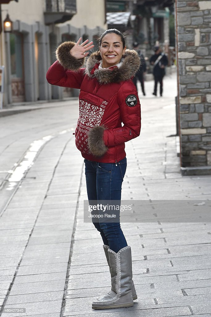 Laura Barriales is seen during Courmayeur Noir In Festival on December 13 2014 in Courmayeur Italy