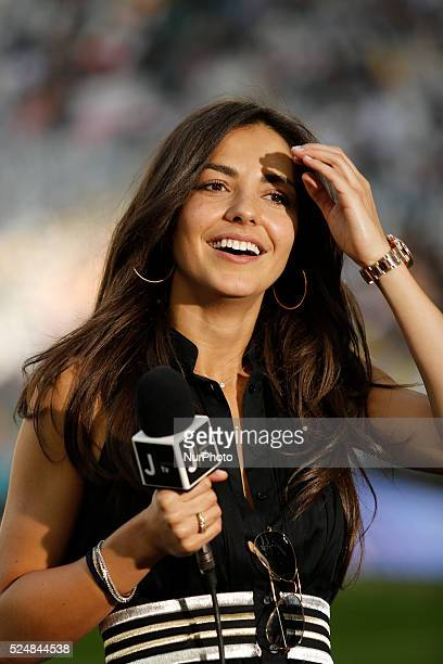 Laura Barriales the seria A match between Juventus FC and Cagliari Calcio at the Juventus Stafium of Turin on may 9 2015 in Torino Italy