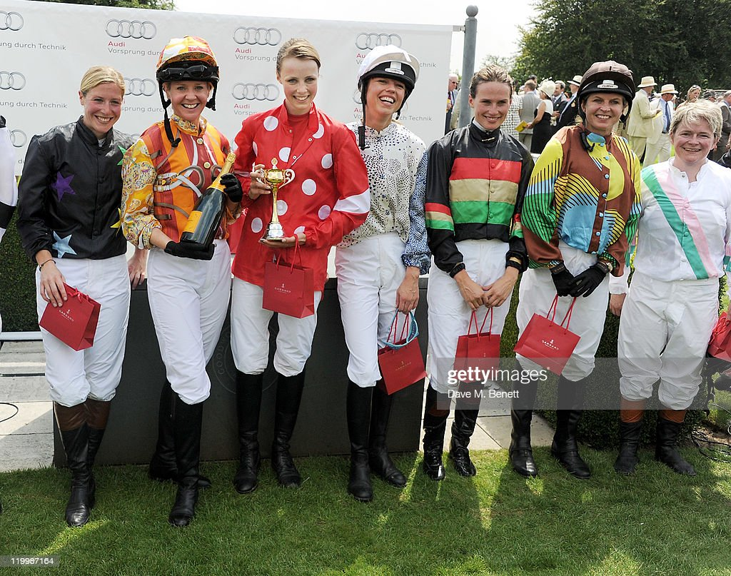 Laura Bechtolsheimer Kate Reardon Edie Campbell Sara Cox Francesca Cumani Clare MilfordHaven and Dido Harding pose in the Winners Circle after their...