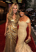 Laura Bell Bundy and Paula Abdul attends the 64th Annual Tony Awards at Radio City Music Hall on June 13 2010 in New York City