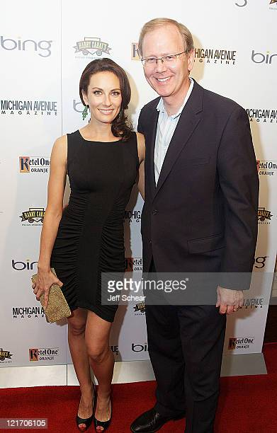 Laura Benanti and Grant DePorter attend the Michigan Avenue Magazine September cover party hosted by Emmy Rossum presented by BING at Harry Caray's...