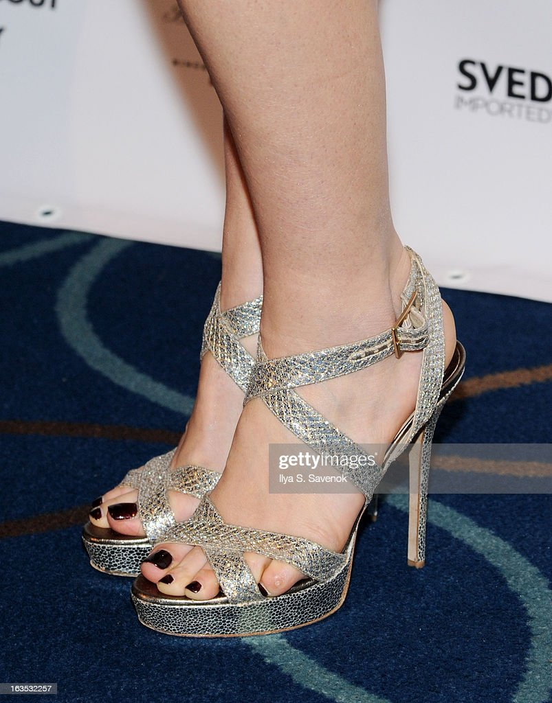 Laura Benanti (shoe detail) attends the 2013 Roundabout Theatre Company Spring Gala at Hammerstein Ballroom on March 11, 2013 in New York City.