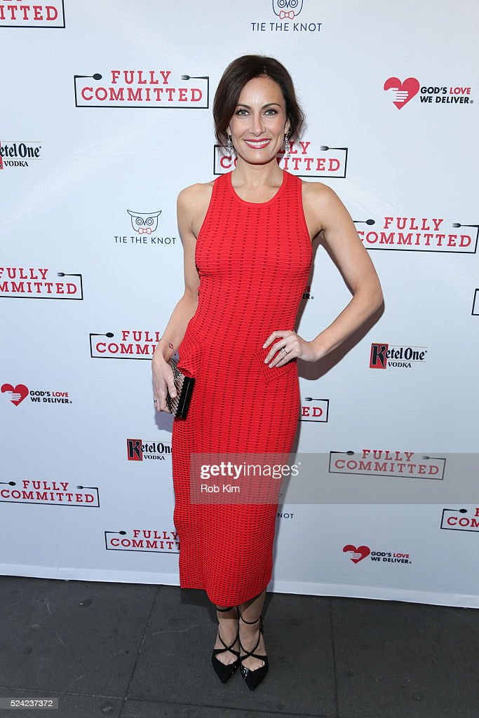 Laura Benanti attends the opening night of 'Fully Committed' at Lyceum Theatre on April 25, 2016 in New York City.